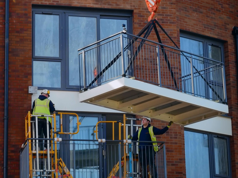 New collaborative balcony design for modern housing developments