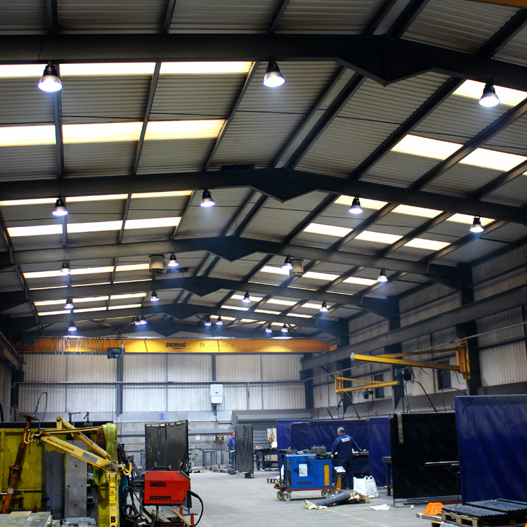 New LED lighting installation for workshop