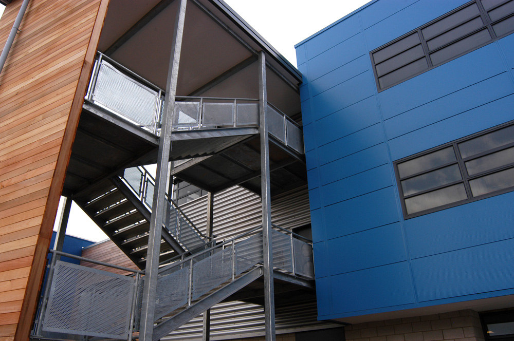 Staircase Regulations Uk >> External Stairs and Escape Staircases | Taunton ...
